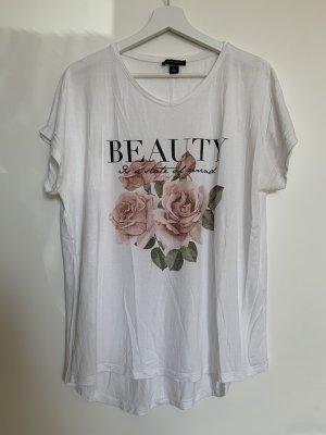 Weißes T-Shirt mit Aufdruck von Amisu