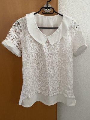 Weißes T-Shirt mit Blumendesign