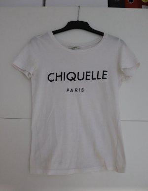 Weißes T-Shirt mit Brand Logo