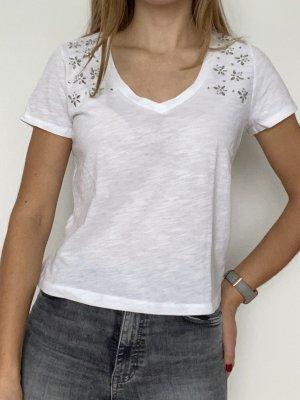 Aeropostale T-shirt bianco-argento
