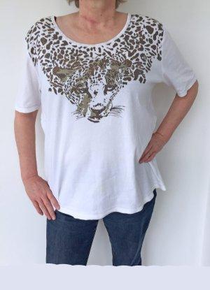Clarina T-shirt biały Bawełna