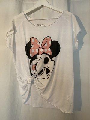 weißes T-Shirt mit Minie Maus von Noble Project in S