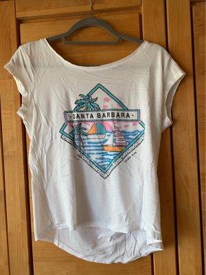weißes T-Shirt mit Motiv