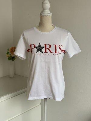 Weißes T-Shirt mit Paris Aufschrift von Only Gr. M NEU