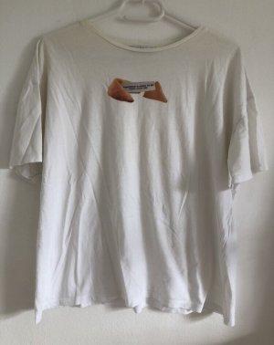 weißes T-Shirt mit Print