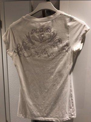 Weißes T-Shirt mit Print auf dem Rücken