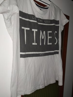 weißes T -Shirt mit Print