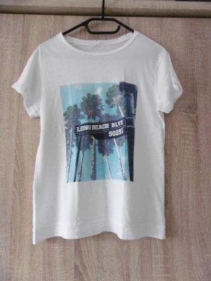 Weißes T-Shirt mit Print von Mango