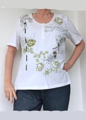 Frank Walder T-shirt blanc-beige clair coton