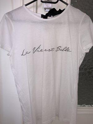 Hallhuber T-shirt czarny-biały