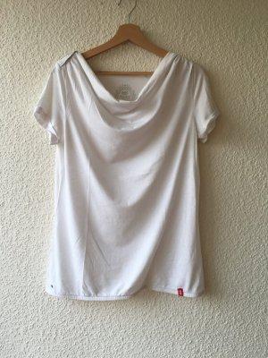edc Cowl-Neck Shirt white cotton