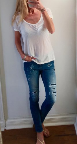 weißes T-Shirt von HALLHUBER DONNA * weiter Schnitt * Gr. 38 M