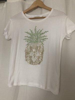 weißes T-Shirt von Rich & Royal in S mit einer Ananas
