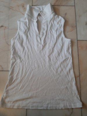 Yessica Blusa tipo Polo blanco