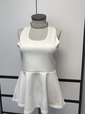 Choies Peplum Top white