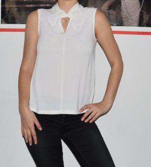 H&M Blouse topje wit Gemengd weefsel