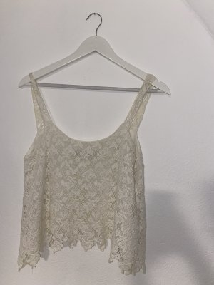 Zara Trafaluc Crochet Top white