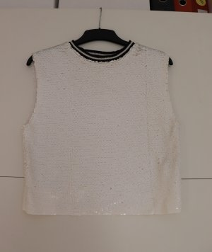 Pull & Bear Top Polo nero-bianco