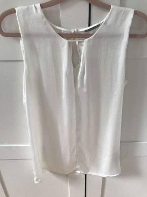 Massimo Dutti Cut Out Top natural white polyester