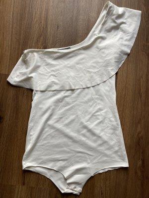 Zara Woman Top asymétrique blanc-blanc cassé