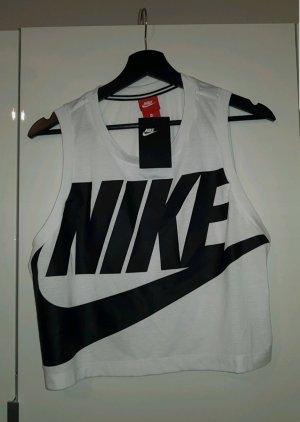Nike Top recortado blanco