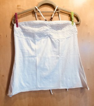 Beach Time Off-The-Shoulder Top white-brown