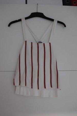 Weißes Top mit roten Streifen