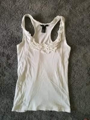 H&M Frill Top white