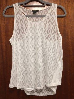Weißes Top, Muster durchsichtig, H&M, Gr. S