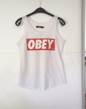 obey Top básico blanco
