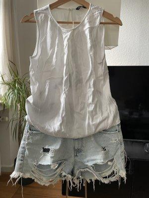 Weißes Top ZARA Größe 36 Bluse