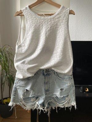 Weißes Top ZARA Größe 38 Bluse