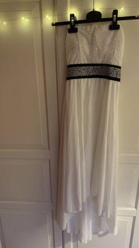 Sukienka gorsetowa czarny-biały
