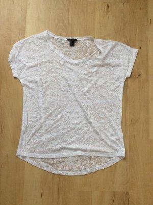 Weißes, transparentes Shirt von H&M in der Größe xs (neu)
