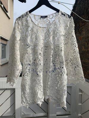Weißes transparentes Shirt von Janina in Größe 46