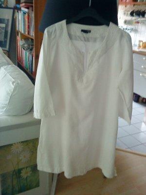 weißes Tunikakleid Leinen Größe 38