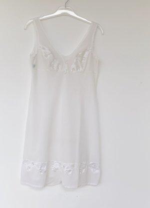 weißes Unterkleid mit Spitze, von elite, Gr. L