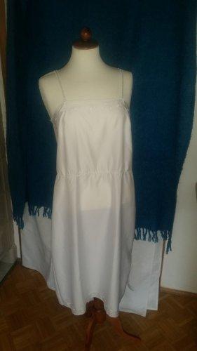 weißes Unterkleid Nachthemd Neglischée Gr. 38