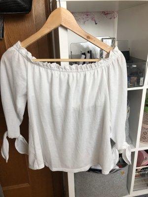 Bershka Carmen shirt wit