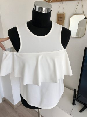 Zara Volanten top wit