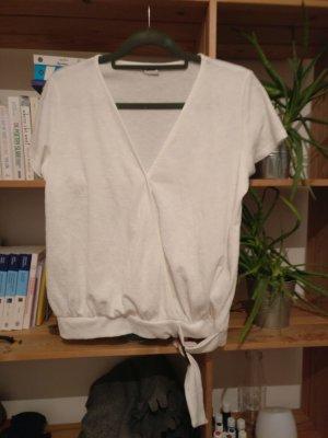 weißes Wickel t-shirt m