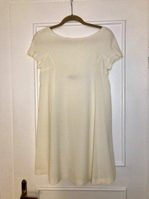 Zara Sukienka typu babydoll biały-kremowy