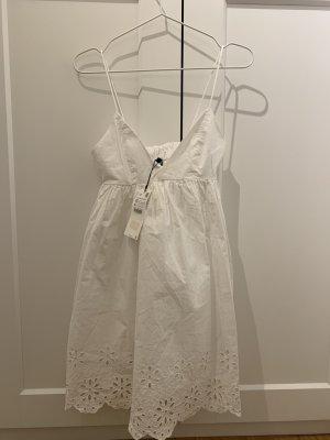 weißes Zara Kleid mit dünnen Trägern
