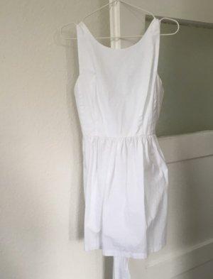 weißes Zara Kleid mit Schleife