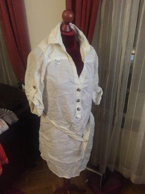 Weißes Zara Leinenkleid