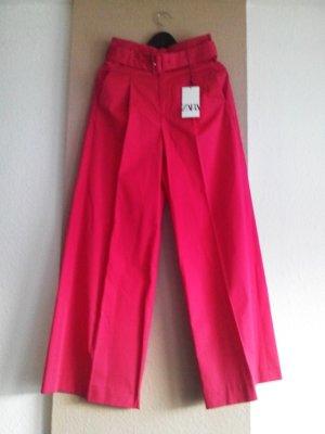 weit geschnittene Hose mit Gürtel in pink, Grösse S, neu