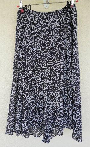 Maxi Skirt white-dark brown