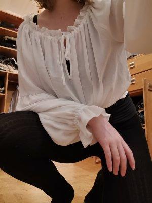 H&M Blusa ancha blanco