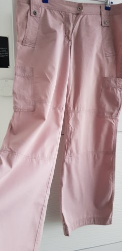 Weite Cargohose in rosa