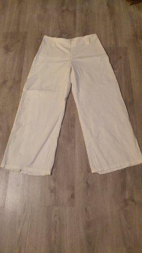 Pantalón anchos blanco Algodón